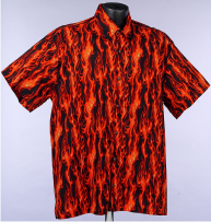 Red Ghost Flames Hawaiian Aloha Shirt