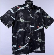WW11 Aircraft, bombers, fighters and aviation Hawaiian shirts and Aloha Shirts