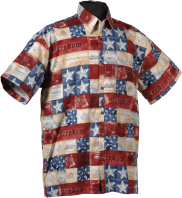 Patriotic ,US Military, USA Flag Hawaiian shirts Aloha Shirts-USA Made