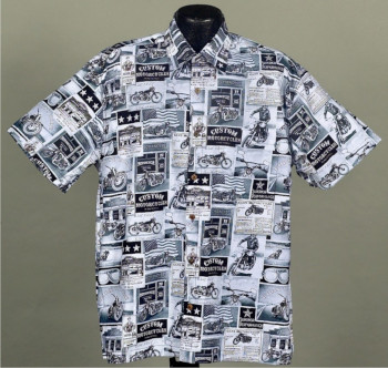 Motorcycle and Biker Hawaiian shirts and Aloha Shirts