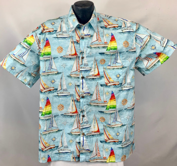 Nautical, Sailing,  and Coastal Hawaiian shirts and Aloha Shirts