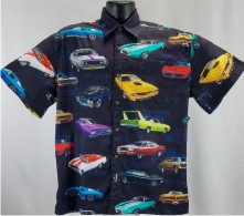 Muscle Car Hawaiian Shirt aloha shirt