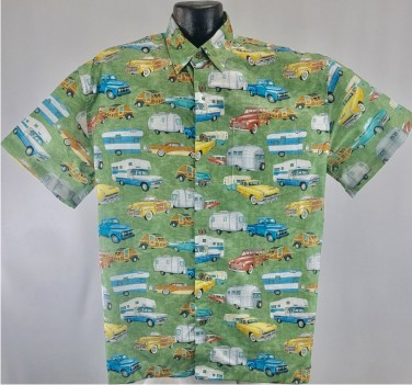 Vintage Trailer Hawaiian aloha shirt
