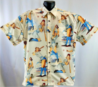 Baseball Pinup Girls Hawaiian Shirt