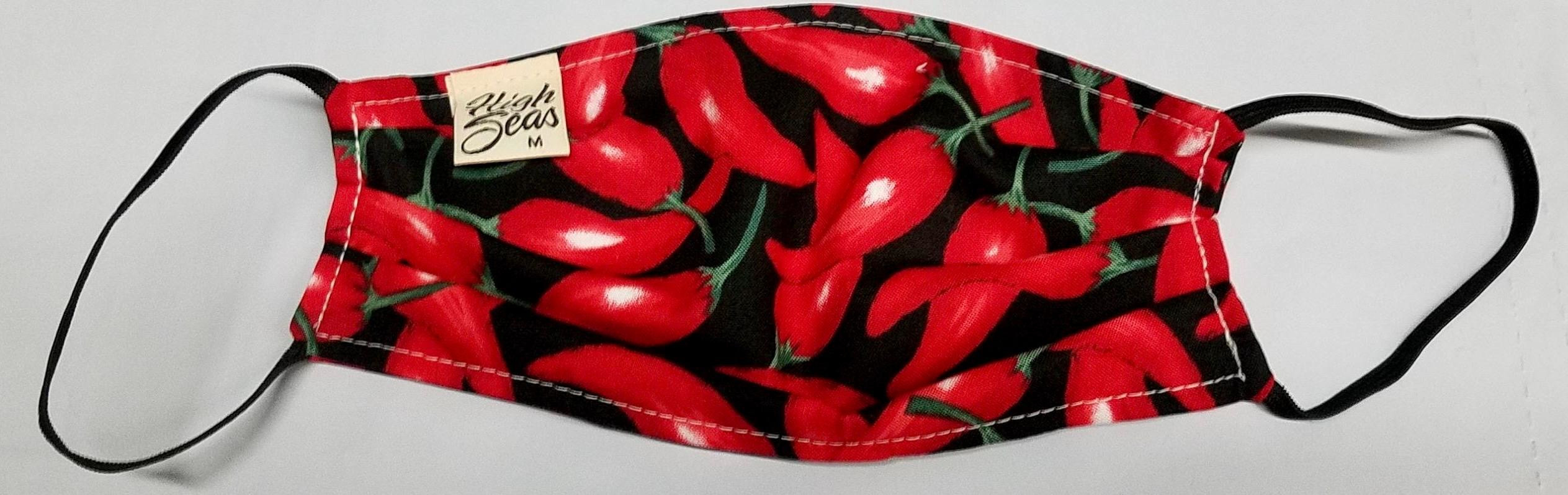 Chile Pepper Safety Face Mask  Made in USA of 100% Cotton