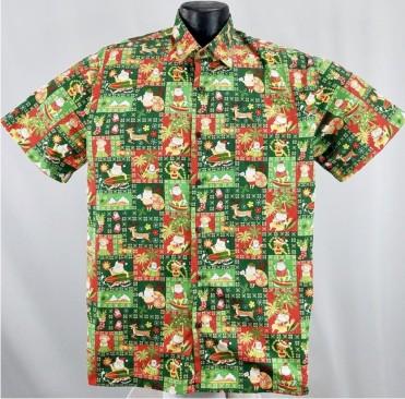 ddd95b6c Island Christmas Hawaiian shirt. Island Christmas Hawaiian Shirt Green. Patriotic  flag ...