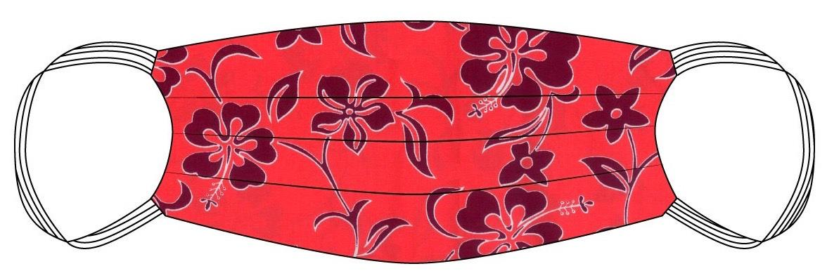 Hawaiian print Safety Mask