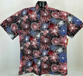 Fireworks Patriotic Hawaiian shirt