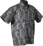 Black Flames Hawaiian Shirt