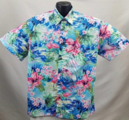 Flamingo Hawaiian Aloha shirt