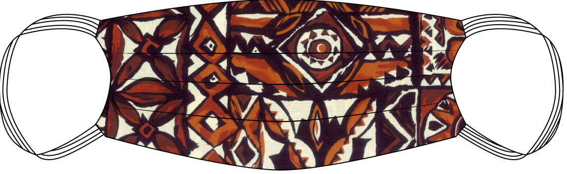 Hawaiian Tapa print Aloha Safety Mask