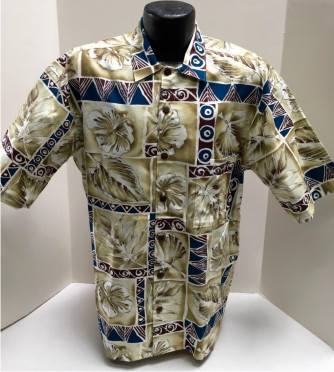 Hilo Hattie  Tapa Hawaiian shirt