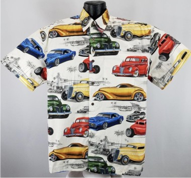 Hot Rods and Classic Cars Hawaiian Shirt