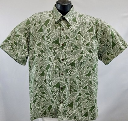 Classic Green Hawaiian shirt