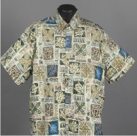 Traditional Hawaiian Tapa Aloha shirt