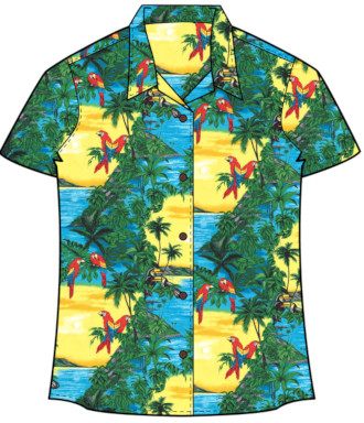 Women's Parrots and toucans Hawaiian Shirt
