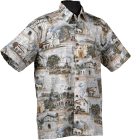 California Missions- Hawaiian aloha shirt