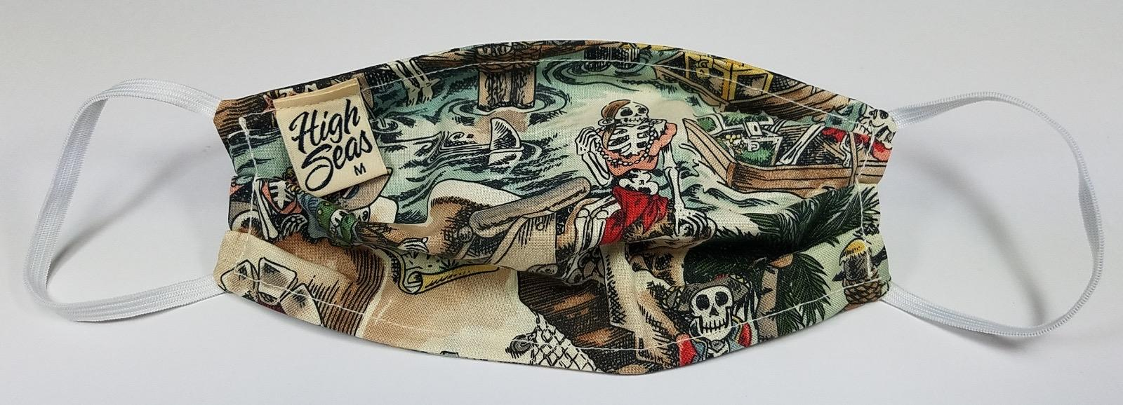 Pirate themed Face Mask 100% Cotton Made in USA
