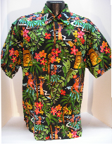 Retro Hula Girl Hawaiian shirt