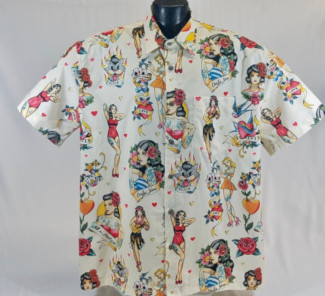 Vintage Pinup Tattoos Hawaiian shirt