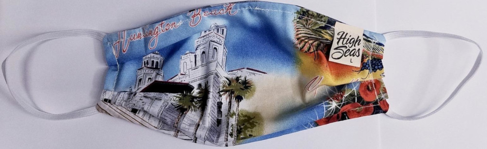 California themed Face  Mask  100% Cotton Made in USA