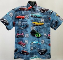 Route 66 Classic Car Hawaiian Shirt aloha shirt