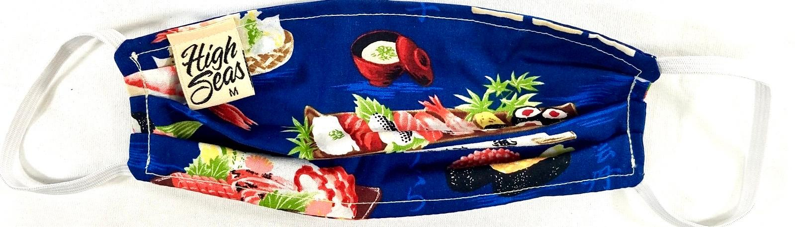 Sushi Face Mask  Made in USA of 100% Cotton
