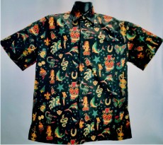 Vintage Tattoos Hawaiian shirt