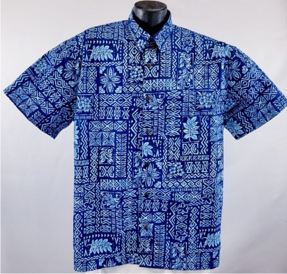 Traditional Tapa Hawaiian Shirt