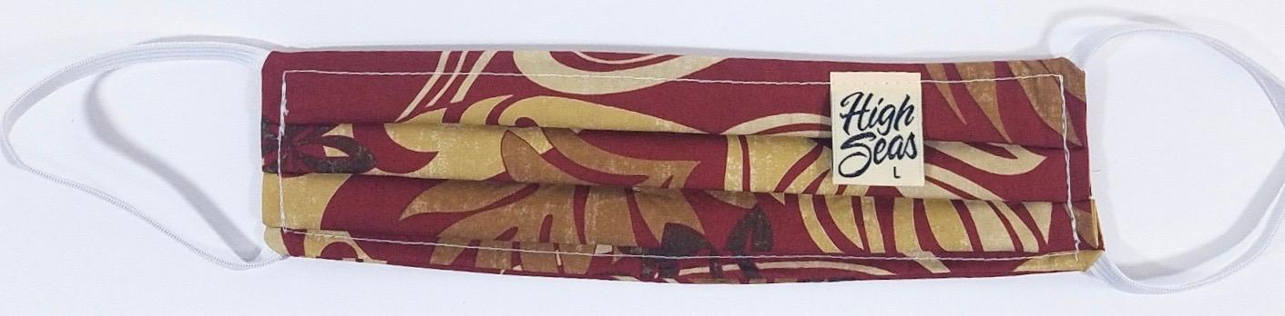 Tribal Classic Hawaiian print Face Mask  100% Cotton Made in USA
