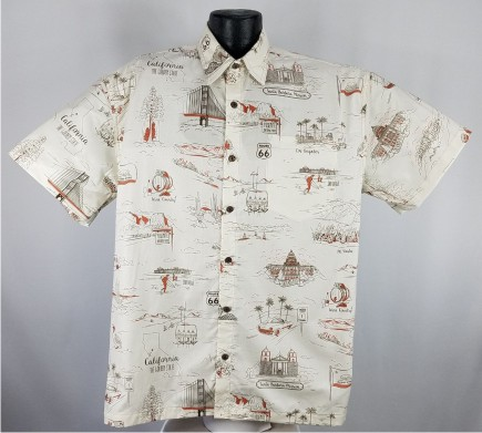 California Themed Hawaiian Aloha Shirts