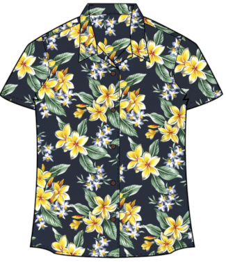Hawaiian Plumeria Women's Hawaiian Shirt