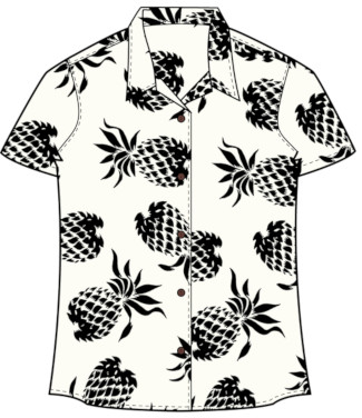 Women's Pineapple Hawaiian Shirt