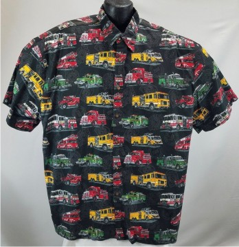 Firetrucks Hawaiian shirt