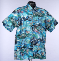 Orcas and Dolphin Hawaiian Aloha Shirt