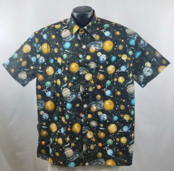 Planets -Space inspired Hawaiian shirt
