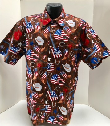 Patriotic Country Music Guitar Hawaiian Shirt