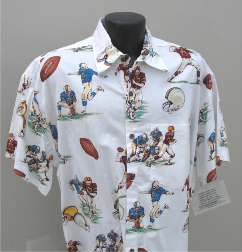 Football aloha shirt