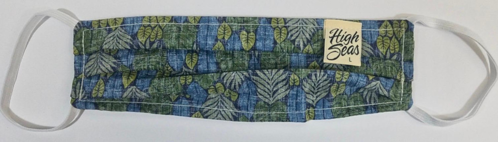 Traditional Hawaiian print Face Mask  100% Cotton Made in USA