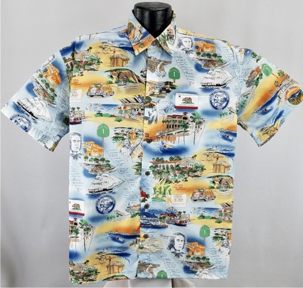 Orange County Beaches Hawaiian Shirt