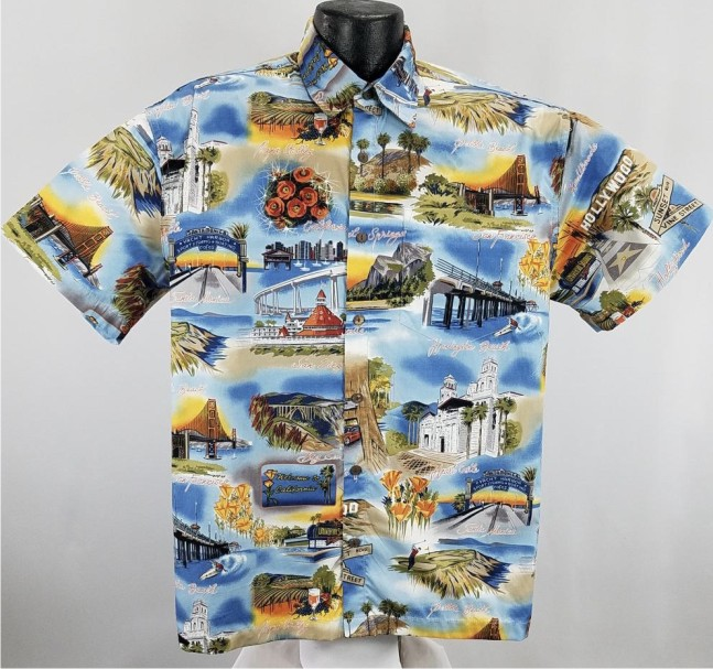 California Themed Hawaiian Shirt