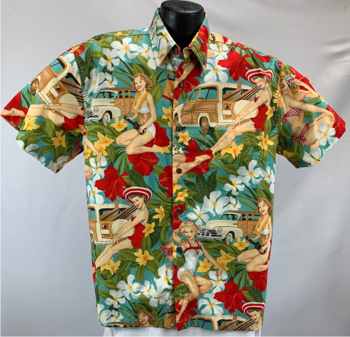 Surf Pinup Girls Hawaiian Shirt