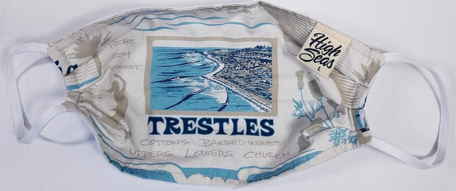 Trestles Surfing Face Mask   100% Cotton Made in USA