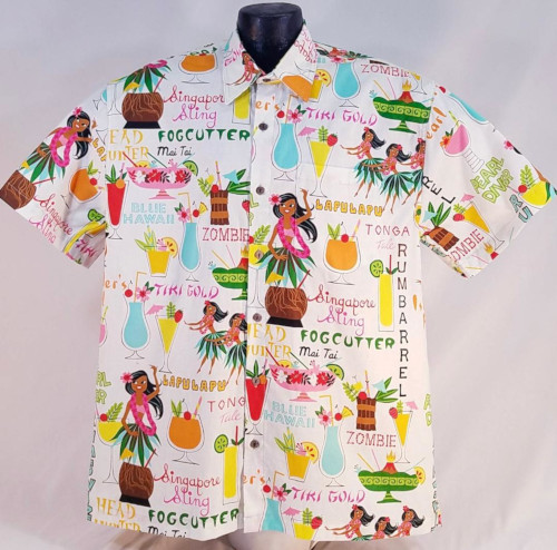 Tropical Tiki drinks Hawaiian shirt