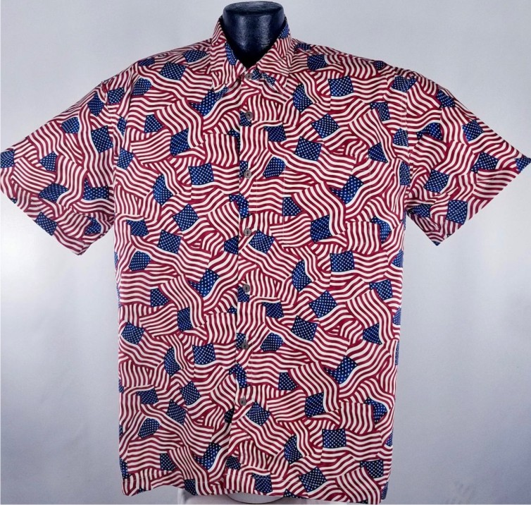 USA Flag American Patriotic flag Hawaiian shirt