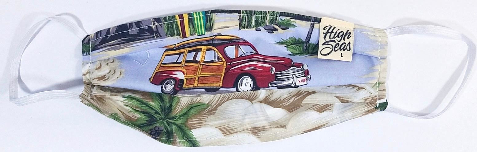 Woodie Wagon Face Mask