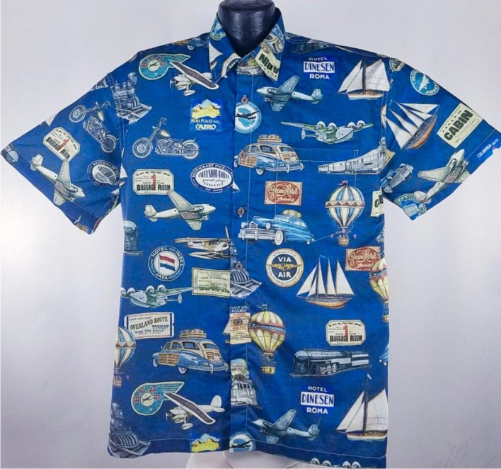 World Travel  Hawaiian aloha shirt