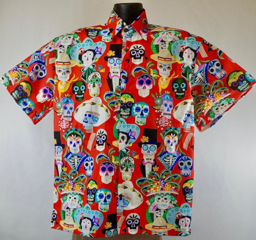 Calveras Day of the Dead Hawaiian Shirt