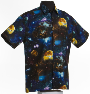 Galaxy Shirt -Space inspired Hawaiian shirt