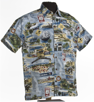 Historic 101-  California beach Hawaiian shirt